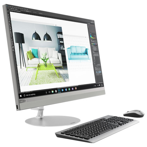 "Lenovo-All-In-One -PC-520-i3-6100-4GB-RAM-1TB-Hard-Disk-21.5""-Touch-Screen-Silver"