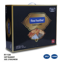 Fine Feather Cloudy Blanket Double 2Ply 3.5Kg
