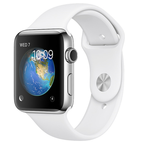 Apple-Watch-Series-1-42mm-Stainless-Steel-Case-White-Sport-Band