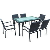 Safari Rattan Aluminum 7Pcs Dining Set ( Stock Available 6 Pcs )