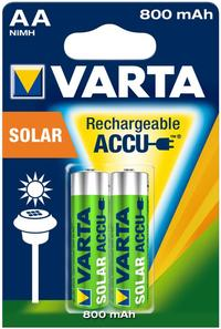 Varta Rechargable Accu Solar Battery AA 800 Mah Pack Of 2 Pieces