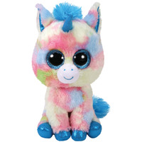 Ty Beanie Boos Reg Blitz Blue Multi Unicorn