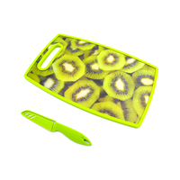 Plastic Cutting Board With Knife Assorted