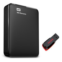 WD Hard Disk Elements 3TB+16GB USB Flash Drive