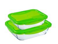 Pyrex Cook & Go Rectangle Dish 1.7 + 0.8L