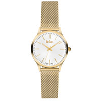 Lee Cooper Women's Analog Gold Case Gold Super Metal Strap Silver Dial -LC06301.230