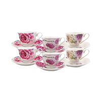Ceramic Assorted Coffee Cups 6 Pieces