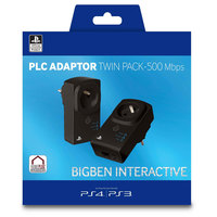 Bigben PS3/PS4 PLC Adaptor Twin Pack-500 Mbps