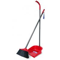 Vileda Long handle Dustpan Set with Broom