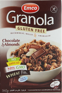 Emco Granola Gluten Free Chocolate & Almonds 340g
