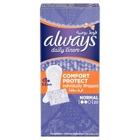 Always Daily Liners Comfort Protect Normal Individually Wrapped 20 Count