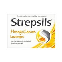 Strepsils Honey & Lemon Sugar Free 16 Pieces