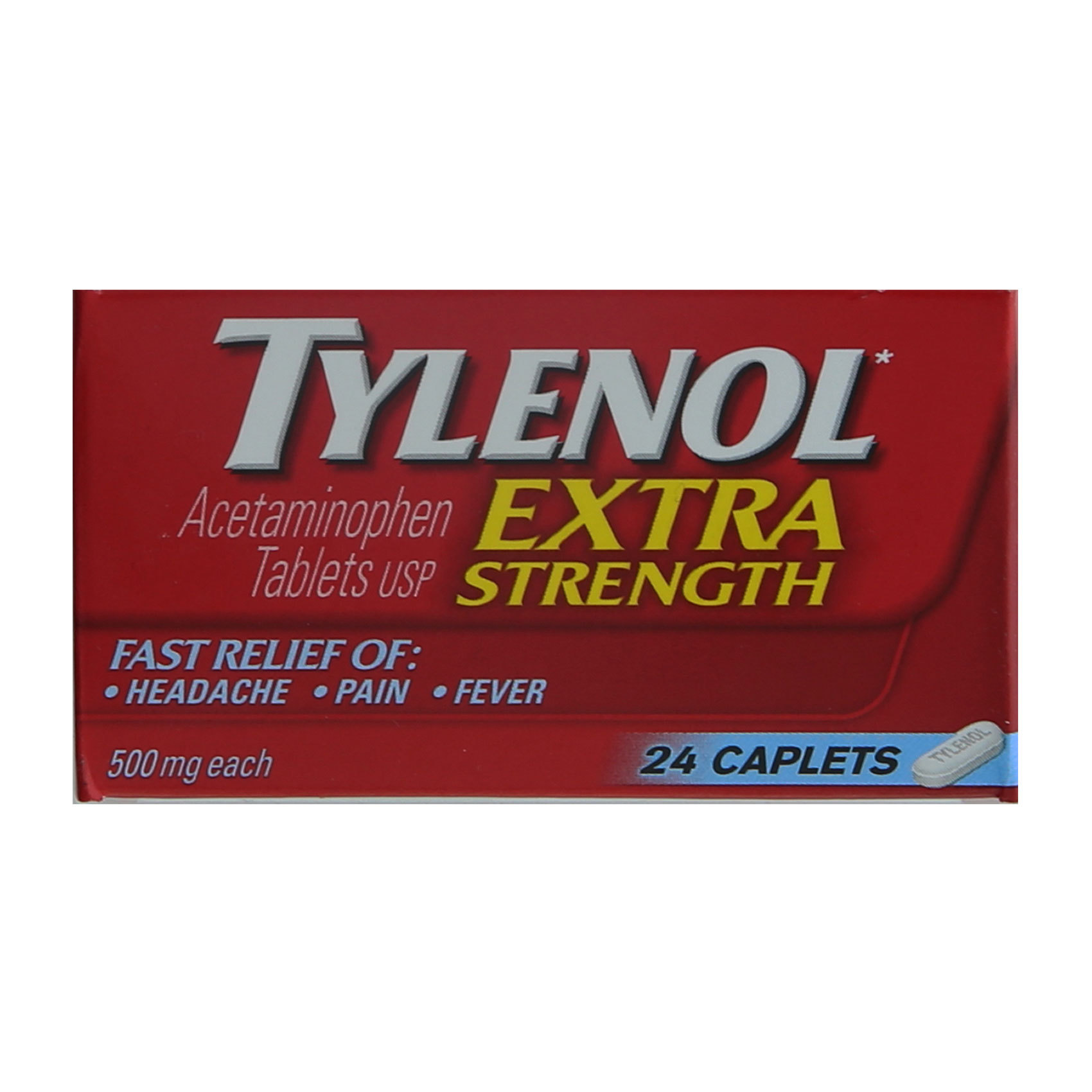 TYLENOL EXTRA STRENGTH 500MGX24S