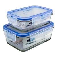 Mondex Glass Container 2Pcs
