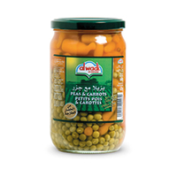 Wadi Al Akhdar Peas Fine & Carrots Jar 660GR