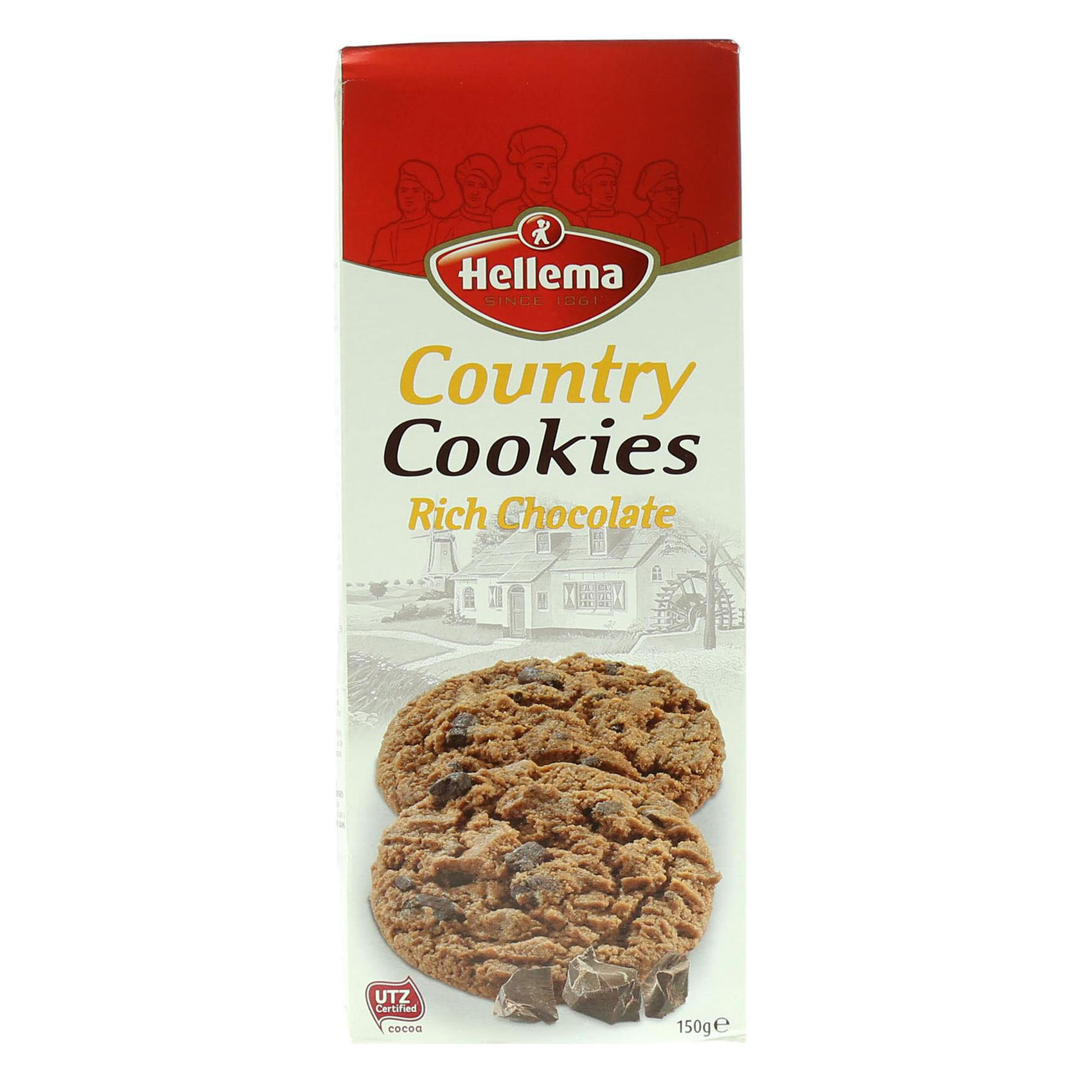 HELLEMA COUNTRY COOKIES-RICH 150G