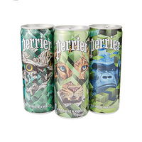 Perrier Sparkling Natural Mineral Water Wild Edition Can 250ML