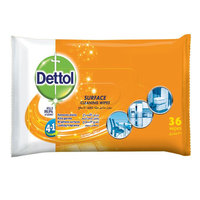 Dettol Surface Orange Cleanser Wipes 36 Wipes
