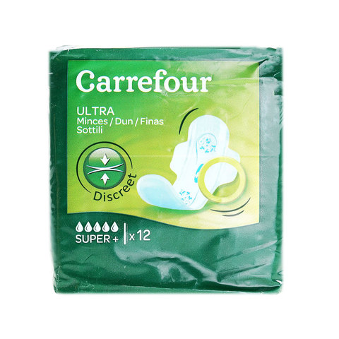 Carrefour-Pads-Ultra-Thin-Super-Wings-X12