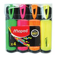 Maped Florescent High Lighter 4Pcs Assorted