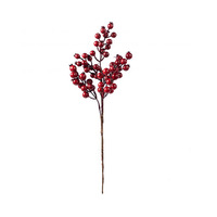 Christmas Deco Berry Branch Red