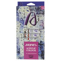 Maries 12 Acrylic Painting Tubes