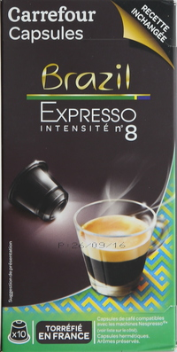 Carrefour Brasilian Coffee Pods 10's