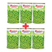 BUY 3 + 3 FREE Maxim'S Green Peas 400g