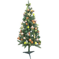 Christmas Tree - Green Tree 150Cm With 80 Deco Copper And Green Look N42