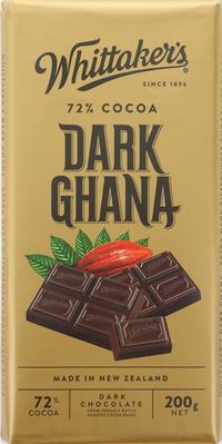 Whittaker's Dark Ghana Dark Chocolate Bar 200g
