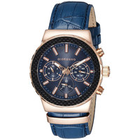 Giordano Men's Watch Multi Function Display Blue Dial Blue Intigrated Leather Strap - 1779-05