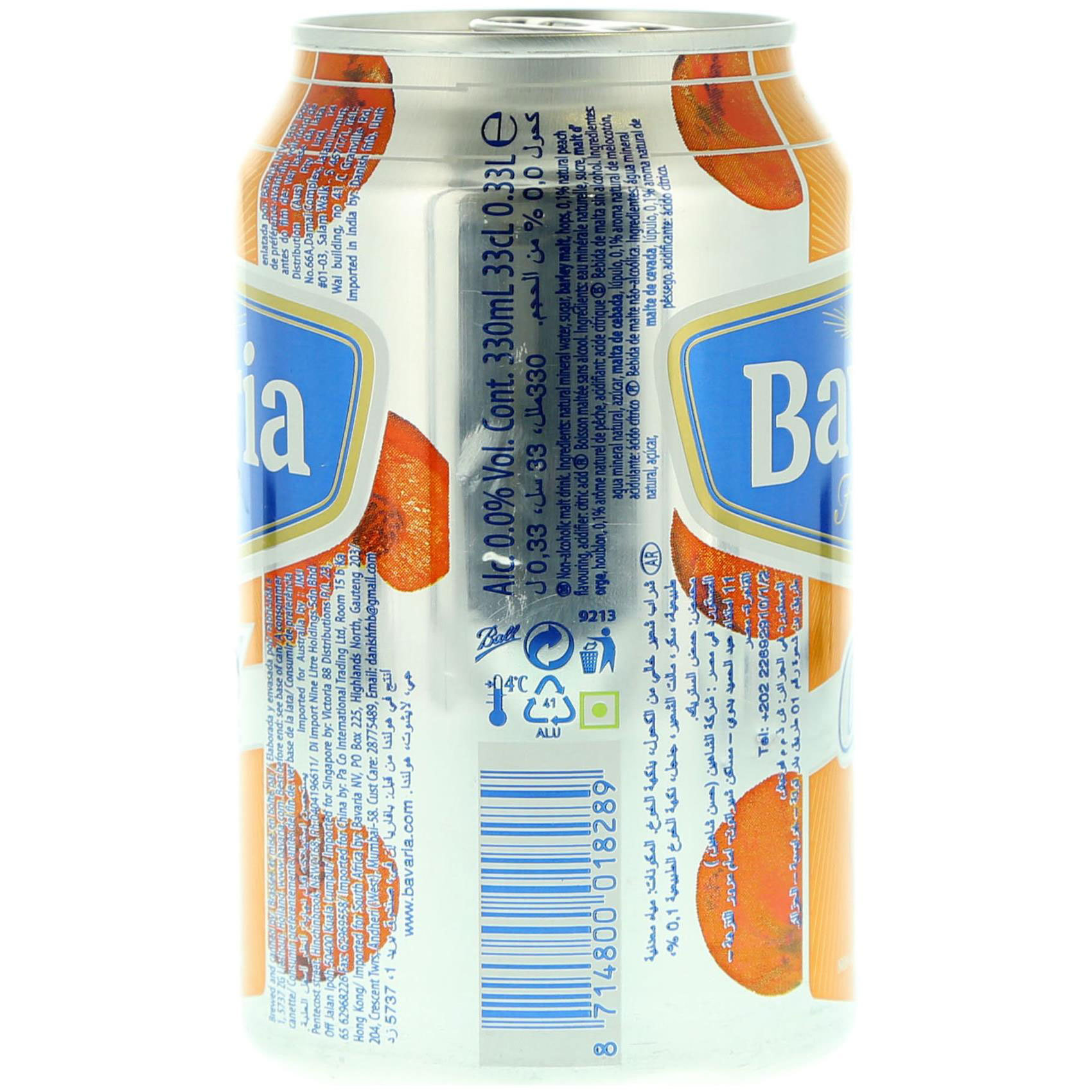 BAVARIA N/A PEACH CAN 330ML