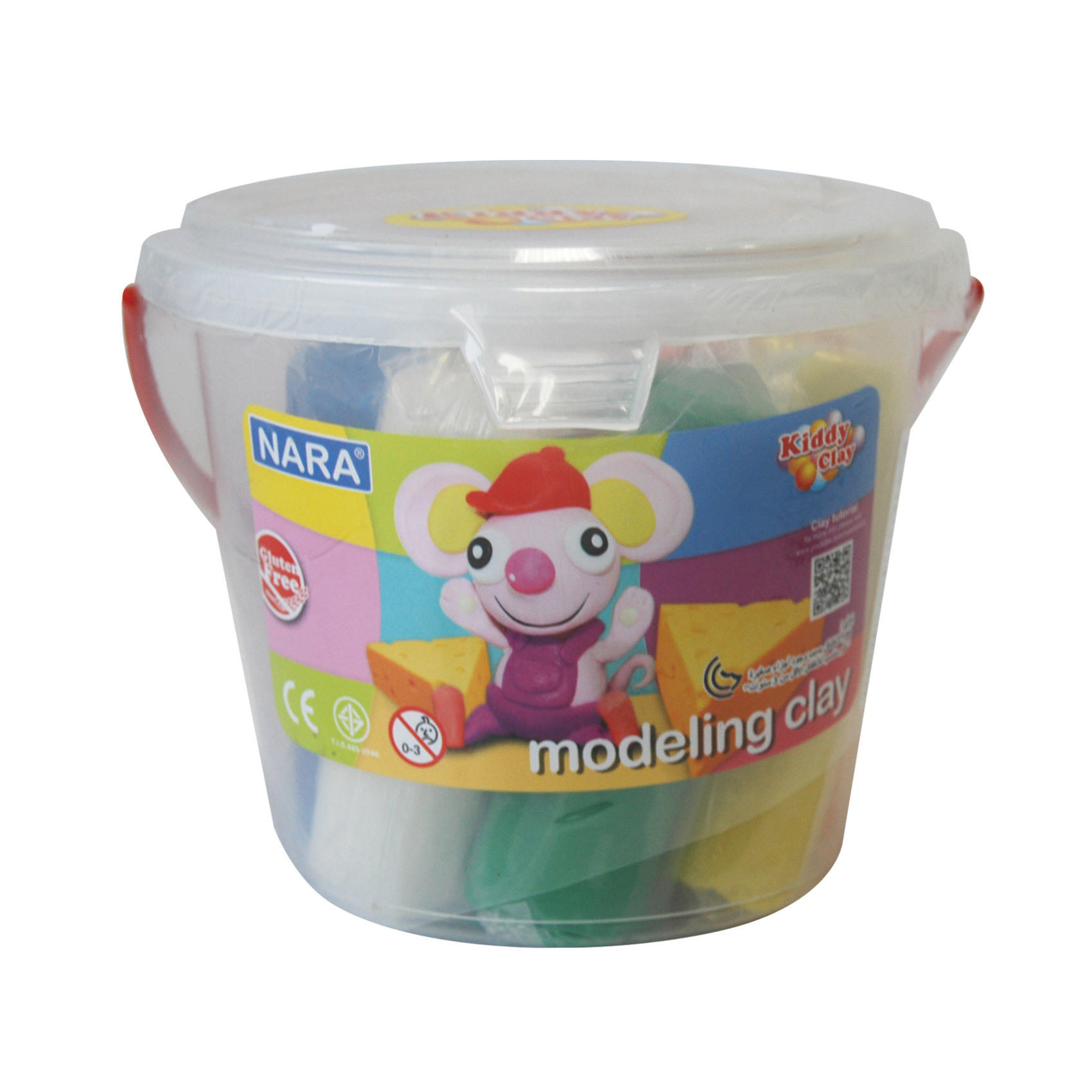 MODELLING CLAY SET BUCKET 8 COLORS