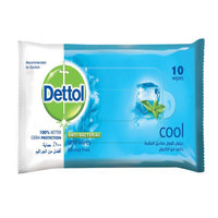 Dettol Anti-Bacterial Cool Skin Wipes 10 Pieces