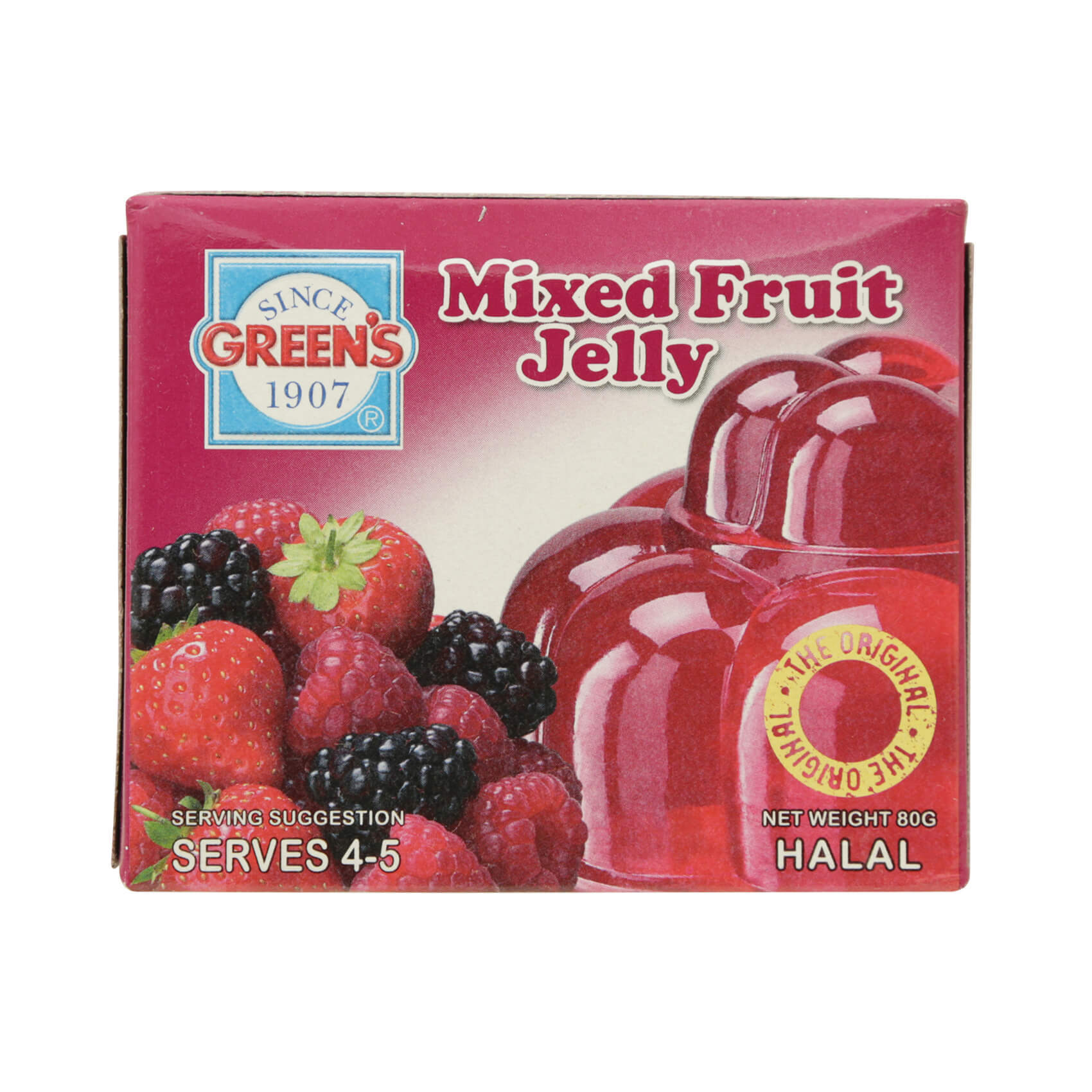 GREENS MIXED FRUIT JELLY 80G