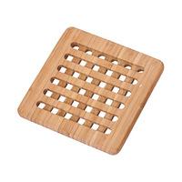 Rubberwood Square Trivet 19X19X1.5CM
