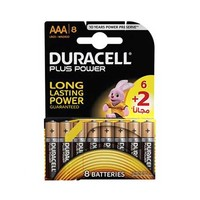 Duracell Plus Power Long Lasting AAA8 6+2 Free