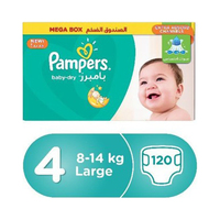 Pampers Diapers Mega Box Size 4 120 Pieces