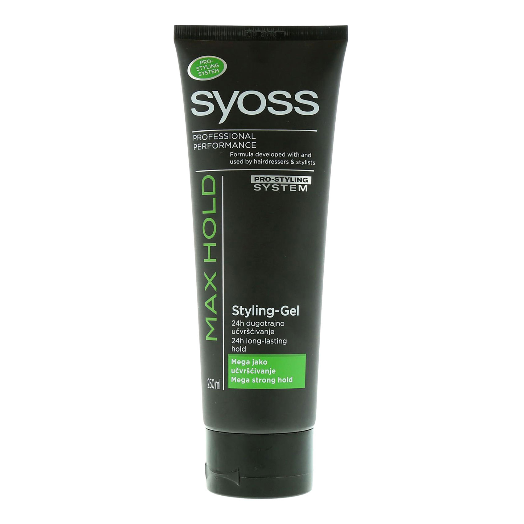 SYOSS STYLING  GEL MAX HOLD 250 ML