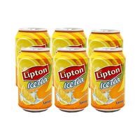 Lipton Lemon Ice Tea Drink Can 320ML X6