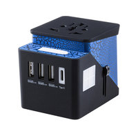 V-Max Cable Type C + World Travel Adapter 3 USB Ports 3.4A