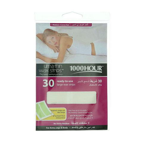 1000-Hour-30-Ultra-Thin-Wax-Strips-Fine-For-Medium-Coarse-Hair