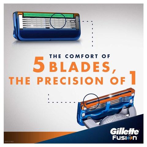 Gillette-Fusion-men's-razor-handle-and-2-Razor-Blade-Refills,-2-count