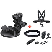 Sony Action Camera Suction Cup VCT-SCM1 + Head Mount Kit Blt-UHM 1 + Chest Mount Harness AKA-CMH1