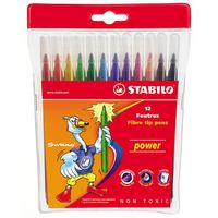 Stabilo Power Fiber Pens Wallet 212