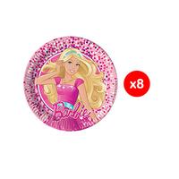 Mattel Barbie Magic Round Paper Plate 20CM 8 Pieces