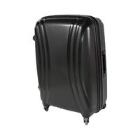 تراك هاي حقيبة سفر خامة صلبة 4 عجلات مقاس 25 انش لون أسود
