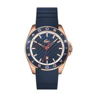 Lacoste Men's Watch Westport Analog Blue Dial Blue Silicon Band 43mm  Case