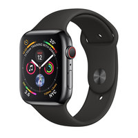 Apple Watch Series-4 GPS + Cellular 40mm Space Grey Aluminium Case with Black Sport Band (MTVD2AE/A)