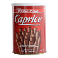 Papodopoulos Caprice Wafer Rolls with Hazelnut & Cocoa Cream 400g